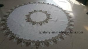 Circular Lace Border Embroidery Table Cloth 2016 New Design pictures & photos