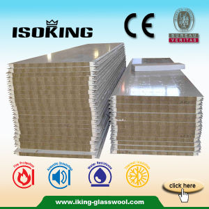 Light Weight and Easy Installation Rockwool Sandwich Panel pictures & photos