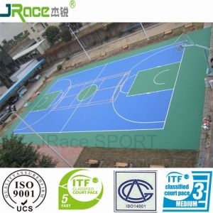 Latest Design Elastic Synthetic Outdoor Flooring Sport Surface pictures & photos