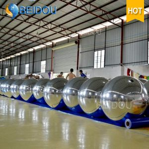 Wholesale Wedding Stage Plastic Mirror Balls 2m Gold Red Floating Disco Inflatable Mirror Ball pictures & photos