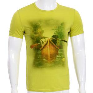 Fashion 3D Printed Cotton Men T-Shirt (ZT025) pictures & photos
