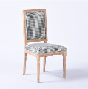 DOT Pattern Wooden Hotel Chairs with Fabric