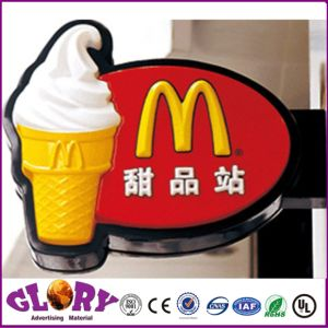 Round Ad Suck Outdoor LED Advertising Light Box pictures & photos