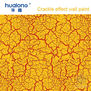 Hualong Red Ground Golden Crackle Texture Wall Paint pictures & photos