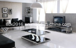 10mm Thickness Home Furniture Tempered Glass on Top TV Stand Dg008 pictures & photos
