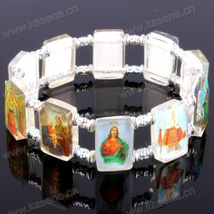 Devotional Saint Pictures White Plastic Religious Bracelet pictures & photos