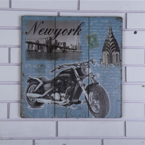 2016 New Design Wooden Decorative Wall Wood Plaque with Motorcycle pictures & photos