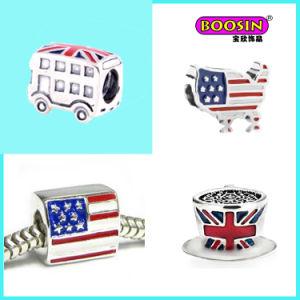 Wholesale Fashion Alloy Colorful Enamel Bracelet Bead Charm pictures & photos