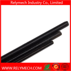 Carbon Steel Left Threaded Rod, Left Lead Screw with Blacken Treatment pictures & photos