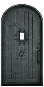 Safey Door Design Wrought Iron Single Door pictures & photos