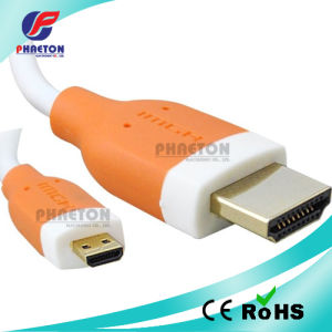 1080P Micro HDMI to HDMI Cable of AV Cable (pH6-1208) pictures & photos