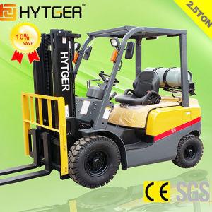 2.5ton Cushion Tire Gasoline (LPG) Forklift pictures & photos