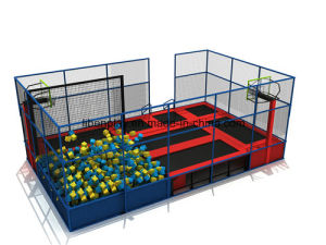 with Foam Pit, Pyramid, Basketball Hoop -- Best Play Zone-Large Trampoline Park pictures & photos