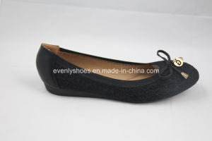 Fashionable Lady′s Ballerina with Embroidery Soft Insole pictures & photos