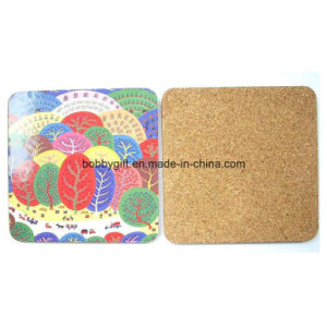 Promotion Square Cork Coaster with Advertising Printing pictures & photos