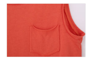 100% Cotton Sleeveless T-Shirt for Kids Girls pictures & photos