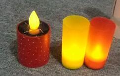 LED Solar Pillar Candle Lights for Party Bar Christmas Decorative pictures & photos