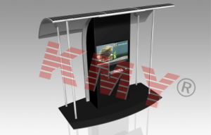 Solar Power Touch Screen Information Kiosk with Metal Keyboard pictures & photos