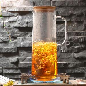 Export America Beautiful Glass Tea Pitcher Set Glass Drink Water Jug Teapot pictures & photos