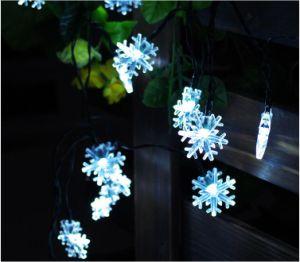 Solar Power 20-LED String Light Snow for Christmas Wedding New-Year