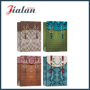 Printed Snake or Crocodile Skin Hand Shopping Gift Paper Bag pictures & photos