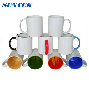 White Ceramic Coated Sublimation Promotional Cup pictures & photos