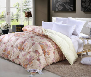 Grey Duck Down Comforter for Winter