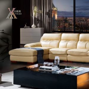 Living Room Leather Sofa Set with Chaise (809) pictures & photos