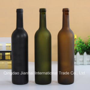 Three Color Frosting Glassware Glass Bottle for Red Wine pictures & photos
