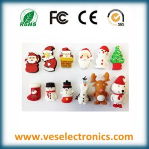 Cute Design Lovely Cartoon Christmas Gift USB Flash Drive pictures & photos