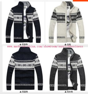 Men′s Knitted Cardigan Sweater (0139) pictures & photos