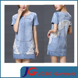 Women Modest Dress Clothes Cotton Denim Maxi Skirts (JC2117) pictures & photos