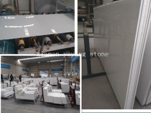 White Artificial Engineered Quartz Stone pictures & photos