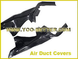 Carbon Fiber Motorcycle Parts for Air Duct Covers