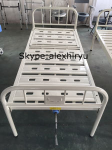 Medical Equipment Folding Cot Bed, Stainless Steel Hospital Bed pictures & photos