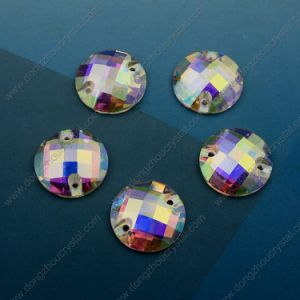 Machine Cut Ab Loose Glass Stone for Garment Accessories (DZ-3043) pictures & photos