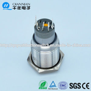 Qn16-C5 16mm Character Illuminated Type Momentary|Latching Flat Head Symbol on off 5pin Push Button Switch pictures & photos