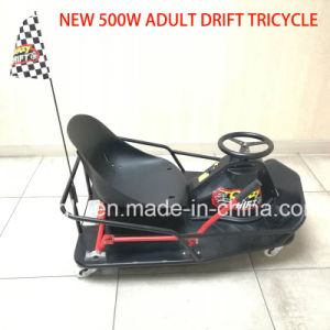 China Supplier Cheap 500W Electric Drift Trike Adult Go Kart pictures & photos