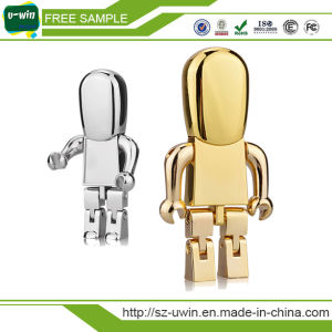 Gold Silver Metal Robot USB Flash Drive pictures & photos
