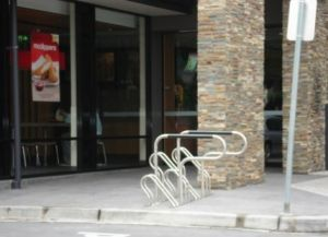 Pretty Hot-Dipped Bicycle Parking Rack pictures & photos