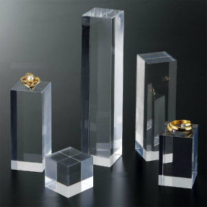 Rectangular Acrylic Cube Display/Acrylic Banner for Jewelry Presentation pictures & photos