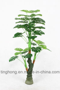 Home Decoration Artificial Tree with 36 Green Monstera Leaf