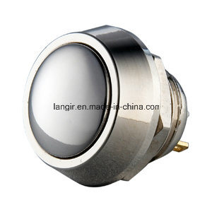 12mm Nickel Plated Brass Momentary Pin Terminal Push Button Switch pictures & photos