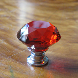 Red Kids Crystal Glass Knobs in Silver pictures & photos