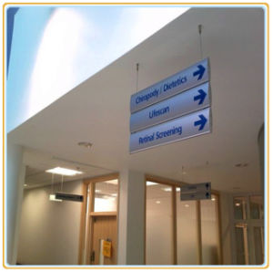 Suspended Double Sided Sign Board/Building Direction Board pictures & photos