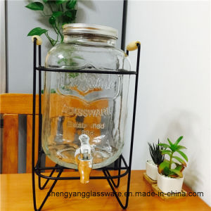 Hot Sell Glass Container Large Size Glass Bottle Glass Storage Jar with Tap Glass Container with Tap pictures & photos