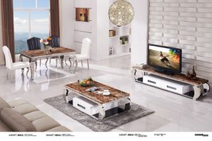 Top Marble and Fashion Stainless Steel Coffee Table pictures & photos