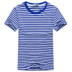 Fashion Cheap Customize Wholesale Personalized Knitted Cotton Men Navy Tees pictures & photos