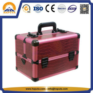 Professional Crocodile Leather Makeup Beauty Case (HB-3167) pictures & photos