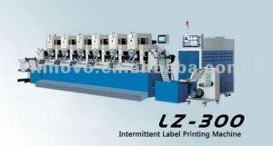 Intermittent Six Color Label Printing Machine (LZ-300) pictures & photos